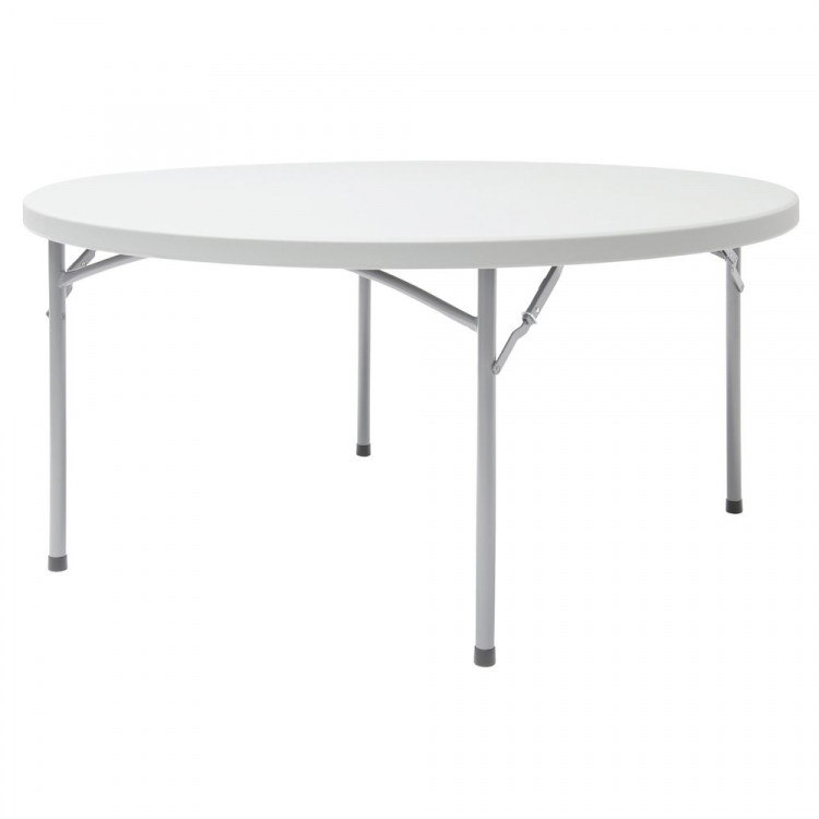 8 Person Round White Plastic Wedding / Event Tables